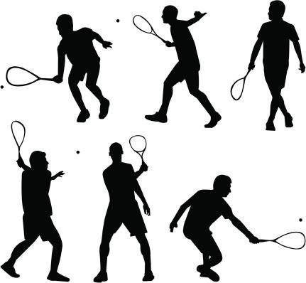 Squash silhouettes