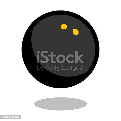 Squash sport ball logo vector line 3d icon