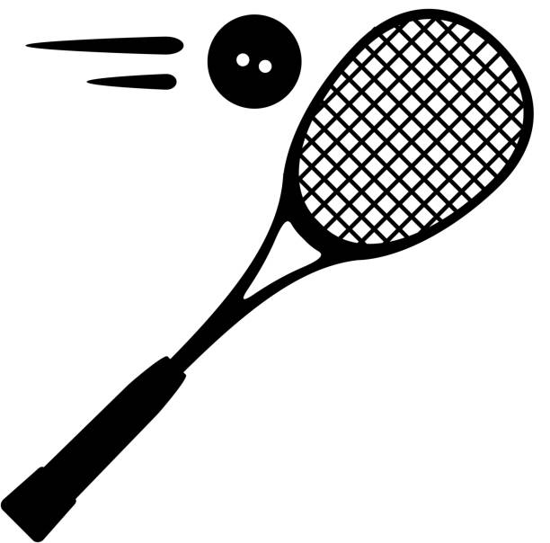 Squash Sport Icon Illustration Squash Sport Icon Illustration as EPS 10 File racket stock illustrations