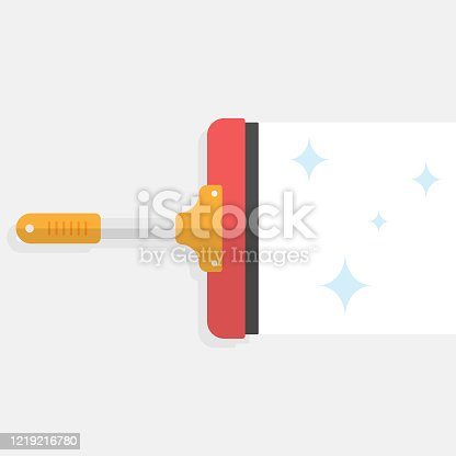 istock Squeegee and Wiper Scraping Tool Icon Flat Design. Cleaning Concept Vector Design. 1219216780