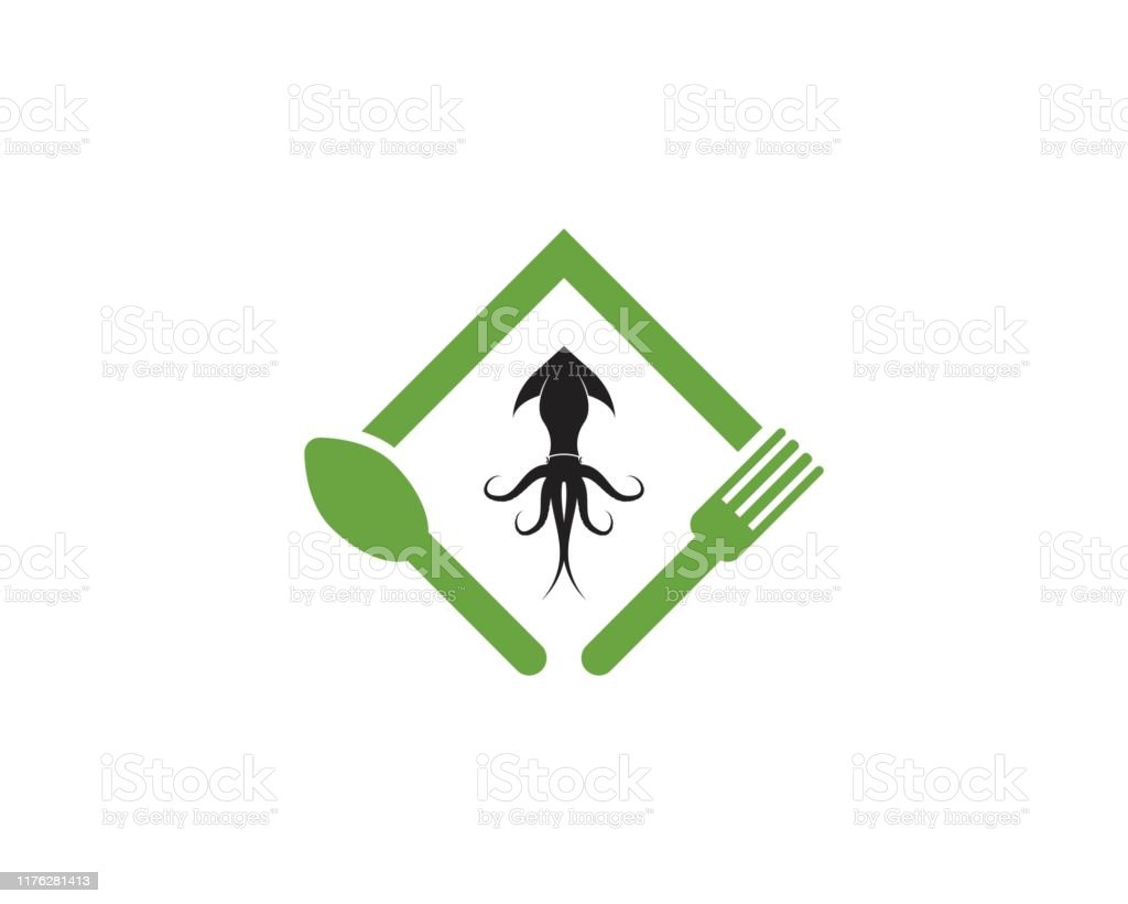 squid resto logo vector template stock illustration download image now istock https www istockphoto com vector squid resto logo vector template gm1176281413 327887965
