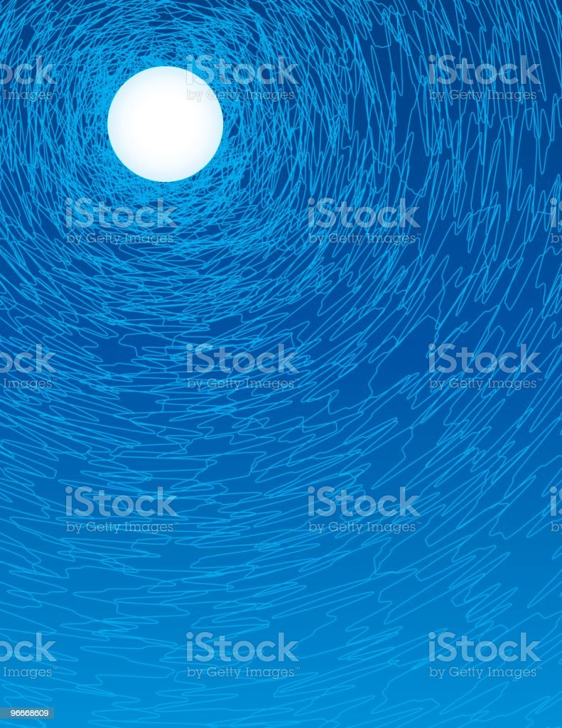 Squiggly Moon royalty-free squiggly moon stock vector art & more images of blue