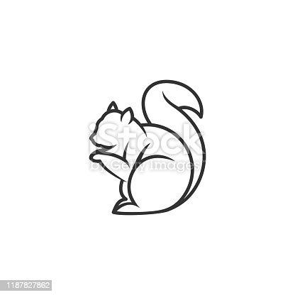 istock Squirrel Design Concept Illustration Vector Template 1187827862