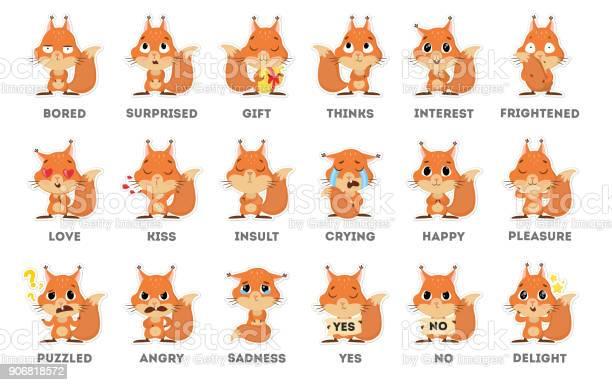 Squirrel emoji sticker set on white background vector id906818572?b=1&k=6&m=906818572&s=612x612&h=tvzpn xomfoi0pns0q5pspy328g02 igll9n ptt4e8=