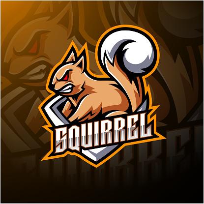 Squirrel esport mascot symbol design