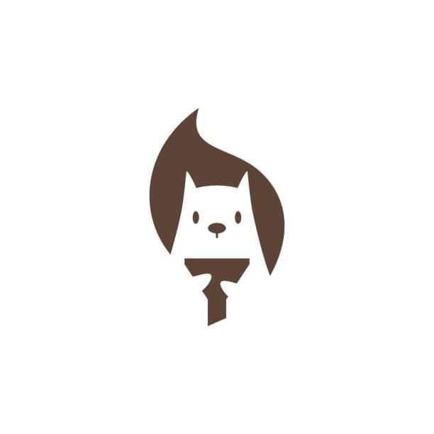 illustrations, cliparts, dessins animés et icônes de écureuil entonnoir vecteur icône mascotte personnage illustration - écureui