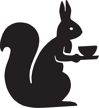 Squirrel Holding a Cup
