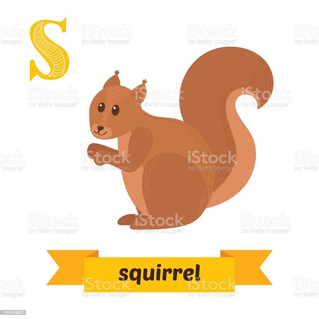 リスますs レターかわいい子供の動物アルファベットをベクトルします