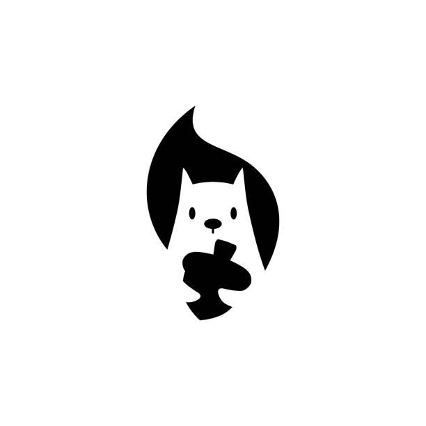 illustrations, cliparts, dessins animés et icônes de l'icône de vecteur d'écureuil retient l'illustration de noix dans le modèle d'espace négatif - écureui