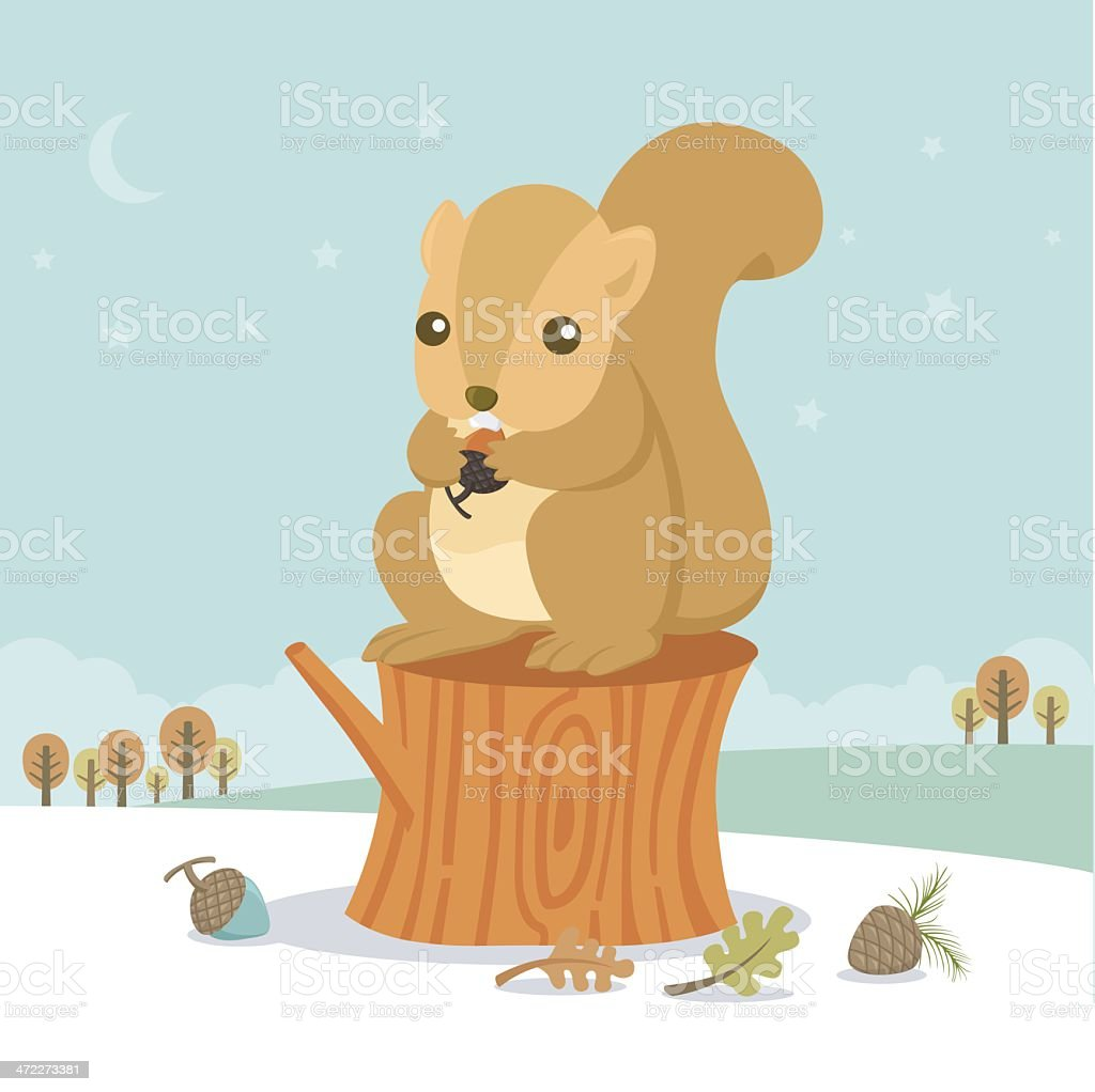 squirrel royalty-free squirrel stock vector art & more images of acorn