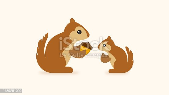 Squirrel With Acorn Icon