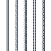 istock Sreel Rebars Set on White Background. Metal Armature. Vector 491751884