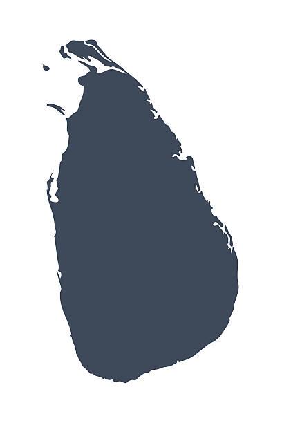 Sri-Lanka-Land-Karte – Vektorgrafik