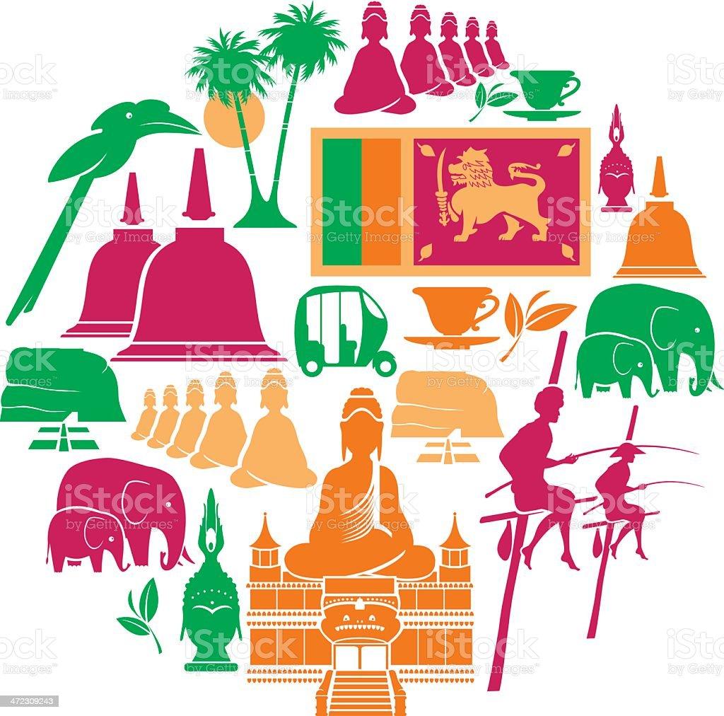 Sri Lanka Icon Set royalty-free sri lanka icon set stock vector art & more images of animal wildlife