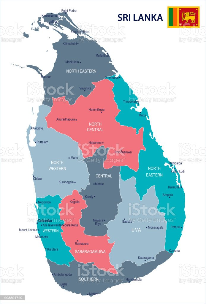 Sri lanka map and flag detailed vector illustration stock vector art sri lanka map and flag detailed vector illustration royalty free sri lanka map gumiabroncs Image collections