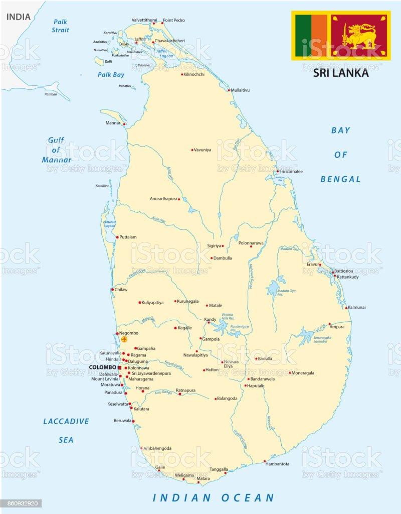 Sri Lanka Map Stock Vector Art More Images of Asia 860932920 iStock