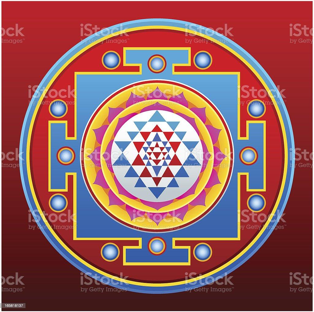Sri Yantra Mandala royalty-free stock vector art