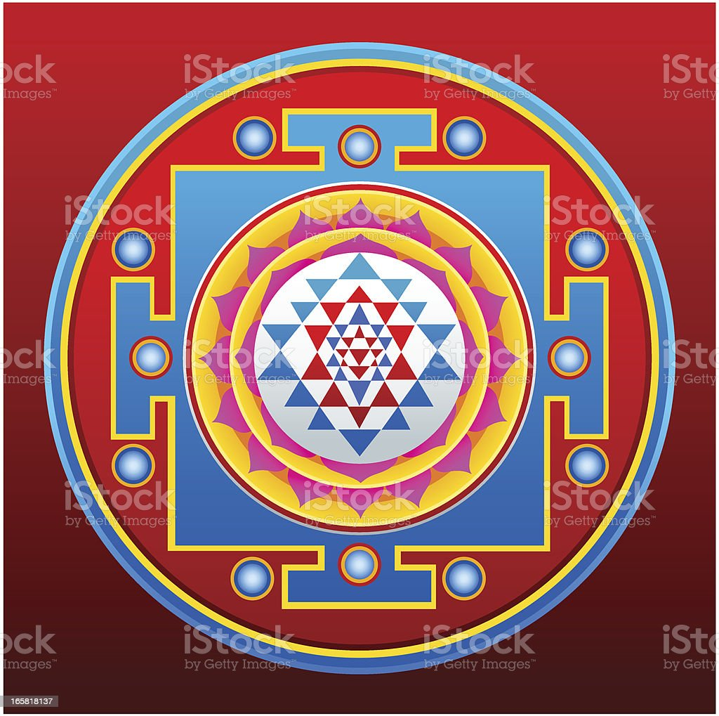 Sri Yantra Mandala Stock Illustration - Download Image Now