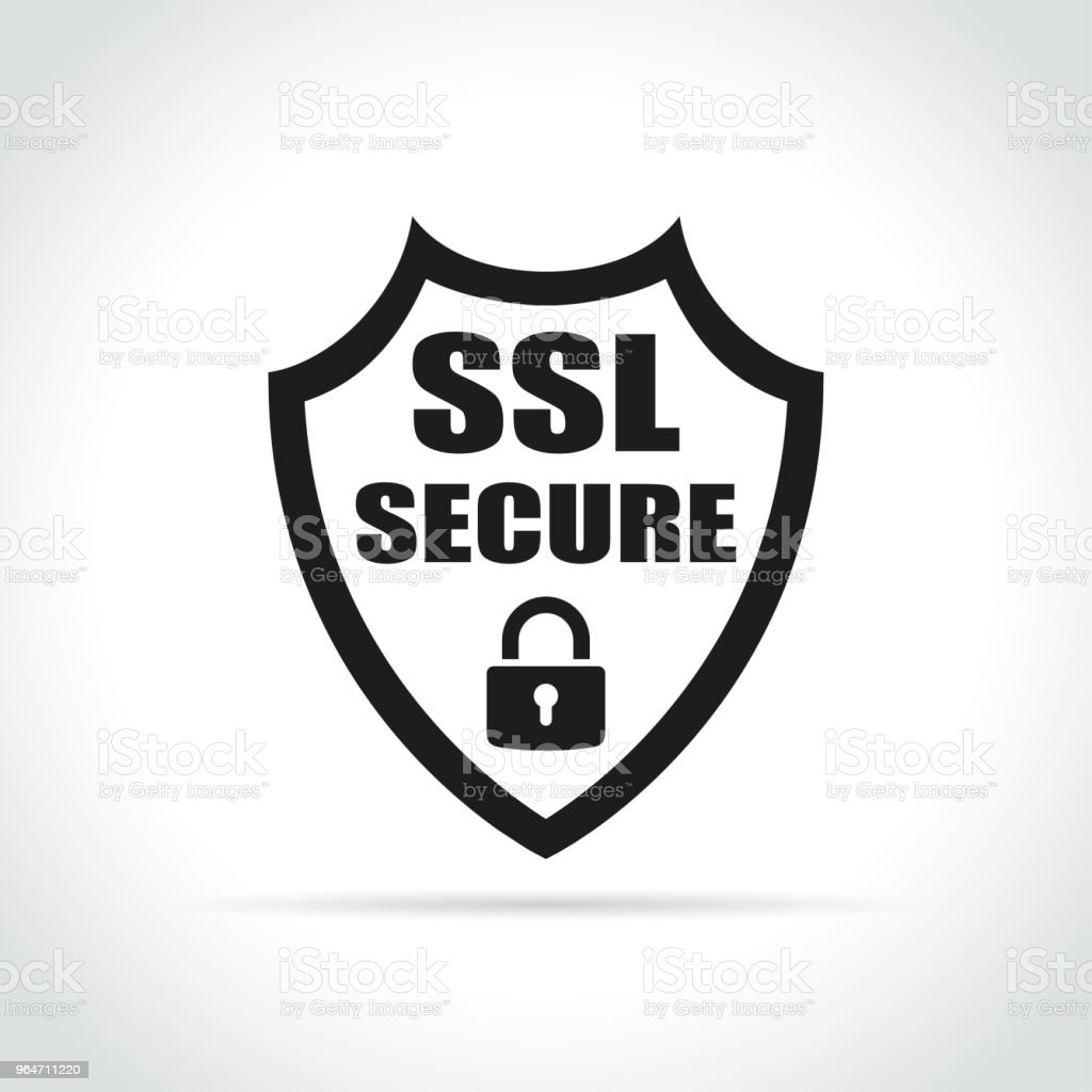 ssl secure icon on white background royalty-free ssl secure icon on white background stock vector art & more images of business