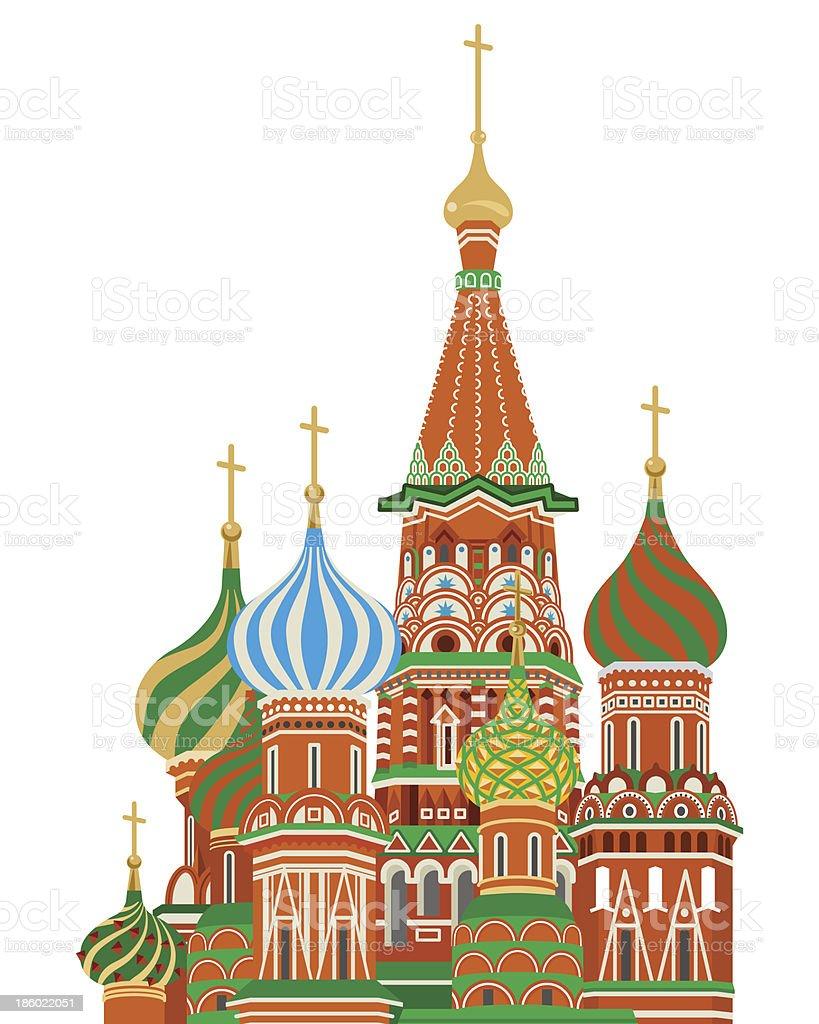 Basilius-Kathedrale, isoliert – Vektorgrafik