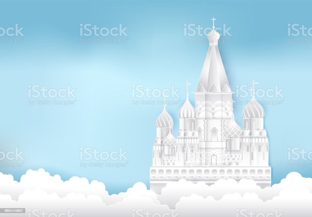 St. Basil's Cathedral, Moscow in Russia Paper cut, Paper art illustration royalty-free st basils cathedral moscow in russia paper cut paper art illustration stock vector art & more images of ancient