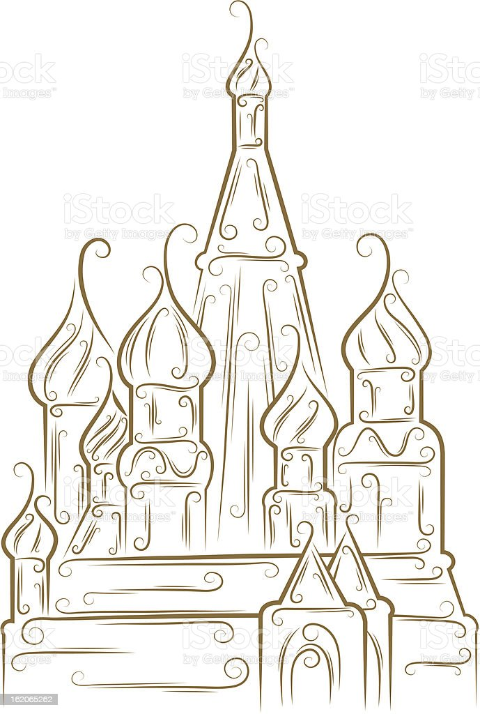 St. Basil's Cathedral royalty-free st basils cathedral stock vector art & more images of architecture