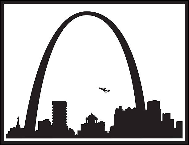 st louis skyline silhouette - st louis 幅插畫檔、美工圖案、卡通及圖標