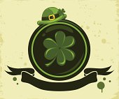 St. Patrick Day banner on the grunge background