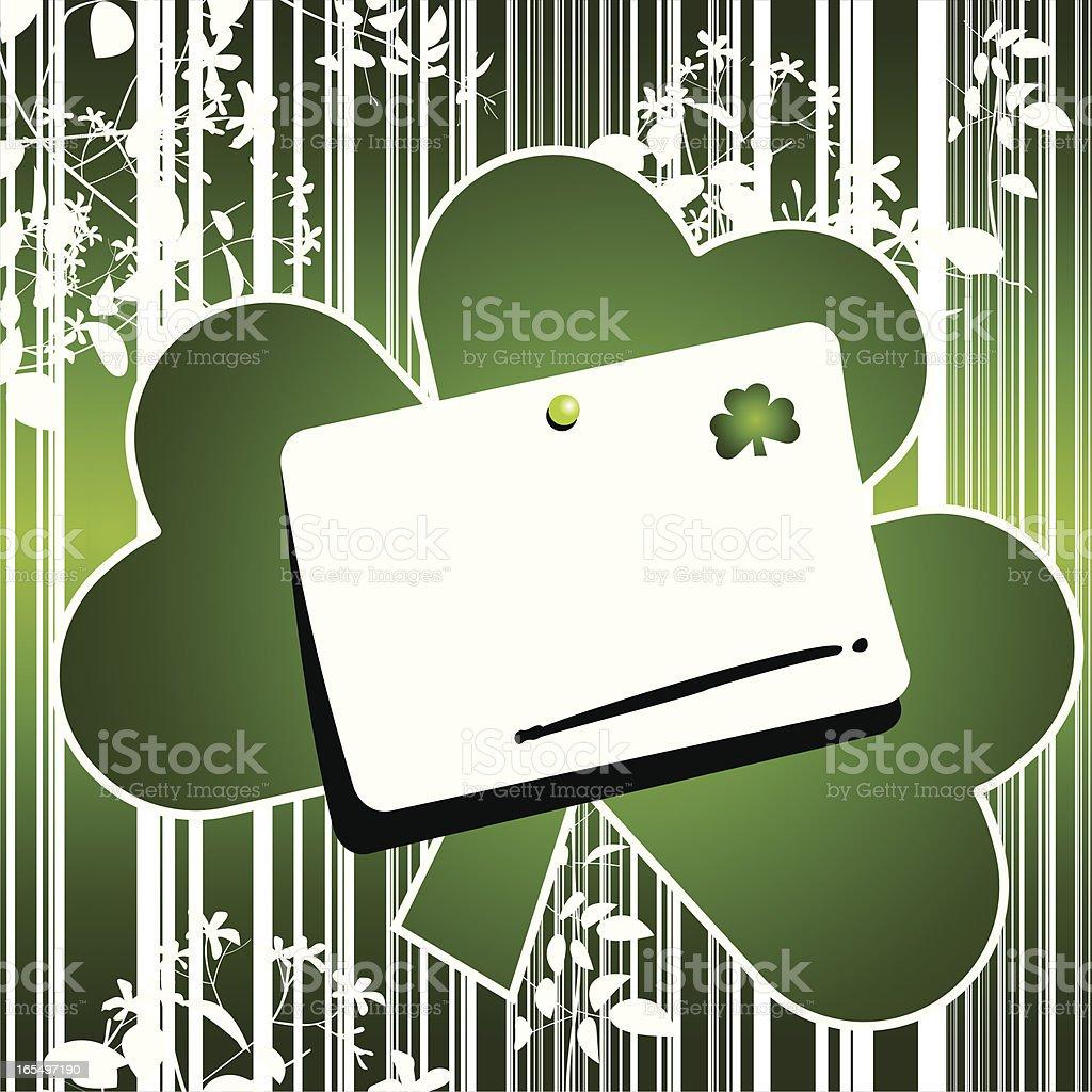 St. Patrick card royalty-free stock vector art