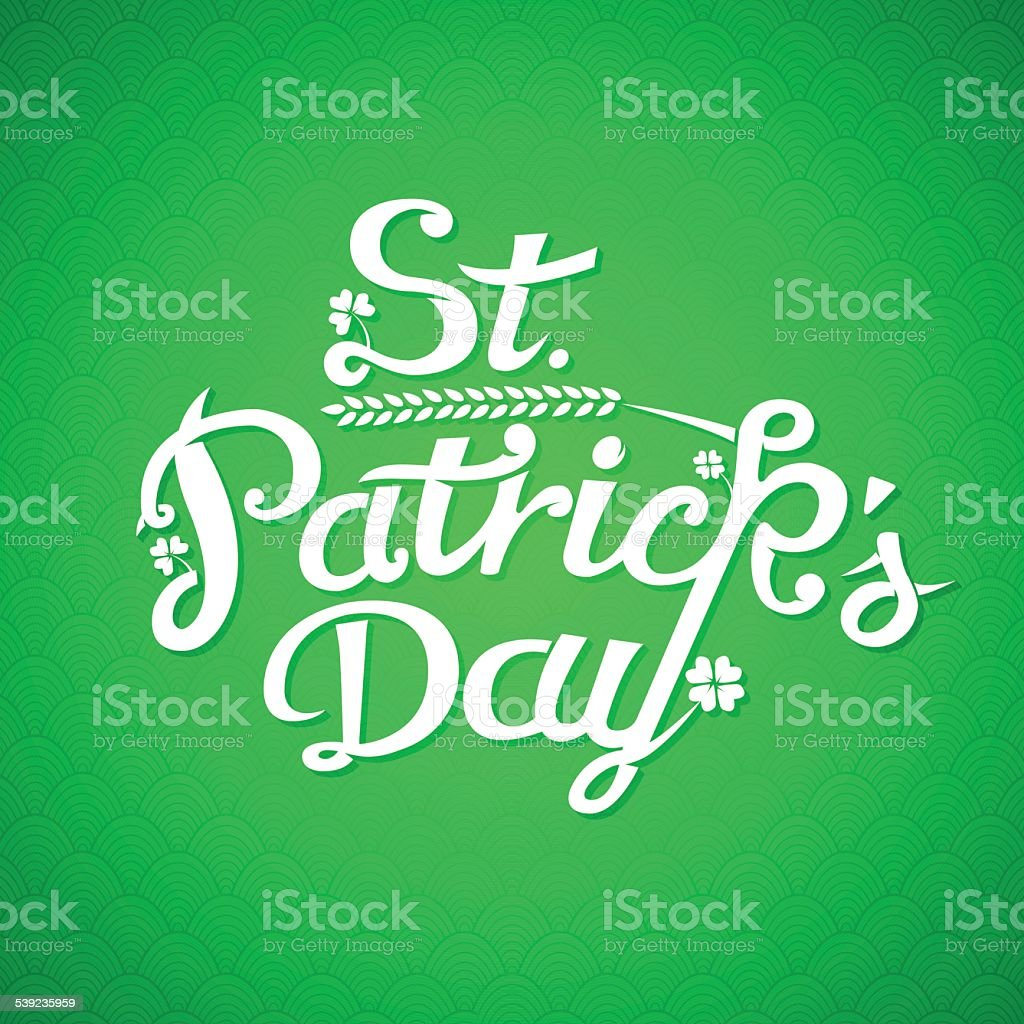 St. Patrick Day Greeting Card royalty-free st patrick day greeting card stock vector art & more images of abstract