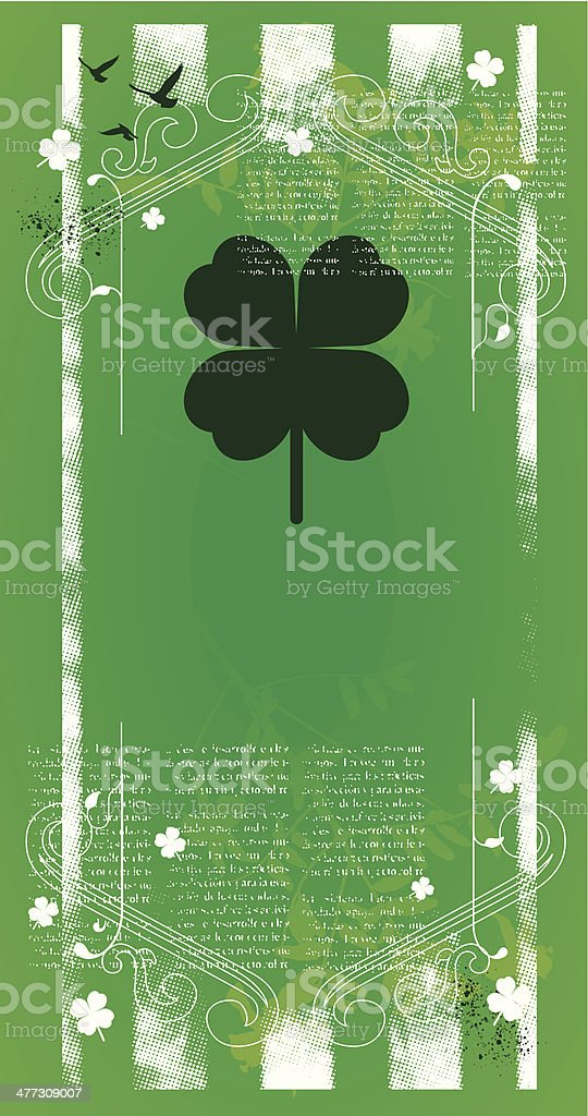 st patrick poster with sign vector art illustration
