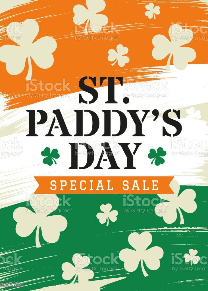 st patrick s day sale background design for advertising banners leaflets and