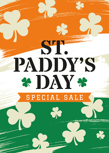 St. Patrick s Day Sale Background - design for advertising, banners, leaflets and flyers.