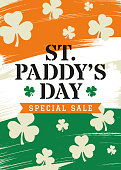 St. Patrick s Day Sale Background - design for advertising, banners, leaflets and flyers. - Illustration - Vector illustration - Illustration