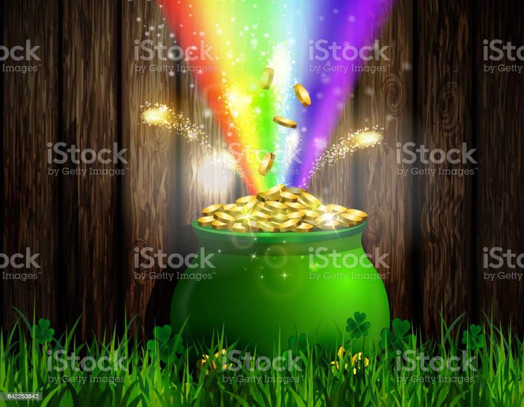 St. Patrick s Day symbol green pot - Royalty-free Canada stock illustration