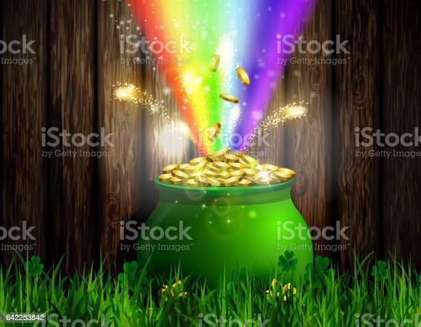St Patrick S Day Symbol Green Pot Stock Illustration - Download Image Now