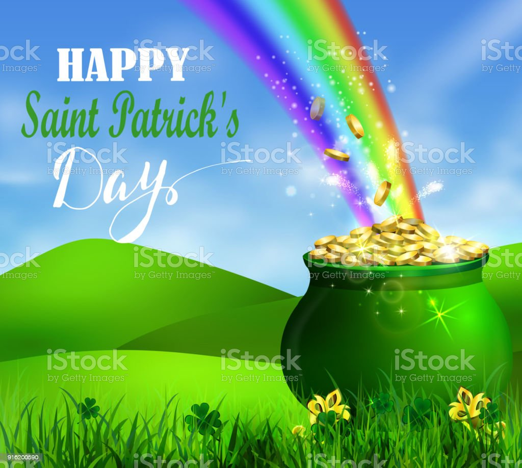 St Patrick S Day Symbol Green Pot Stock Vector Art More Images Of