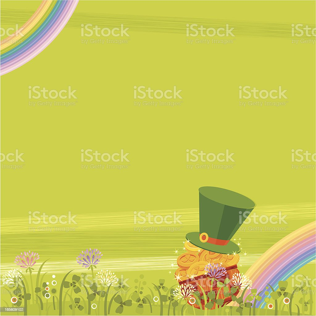 St. Patrick's Background vector art illustration
