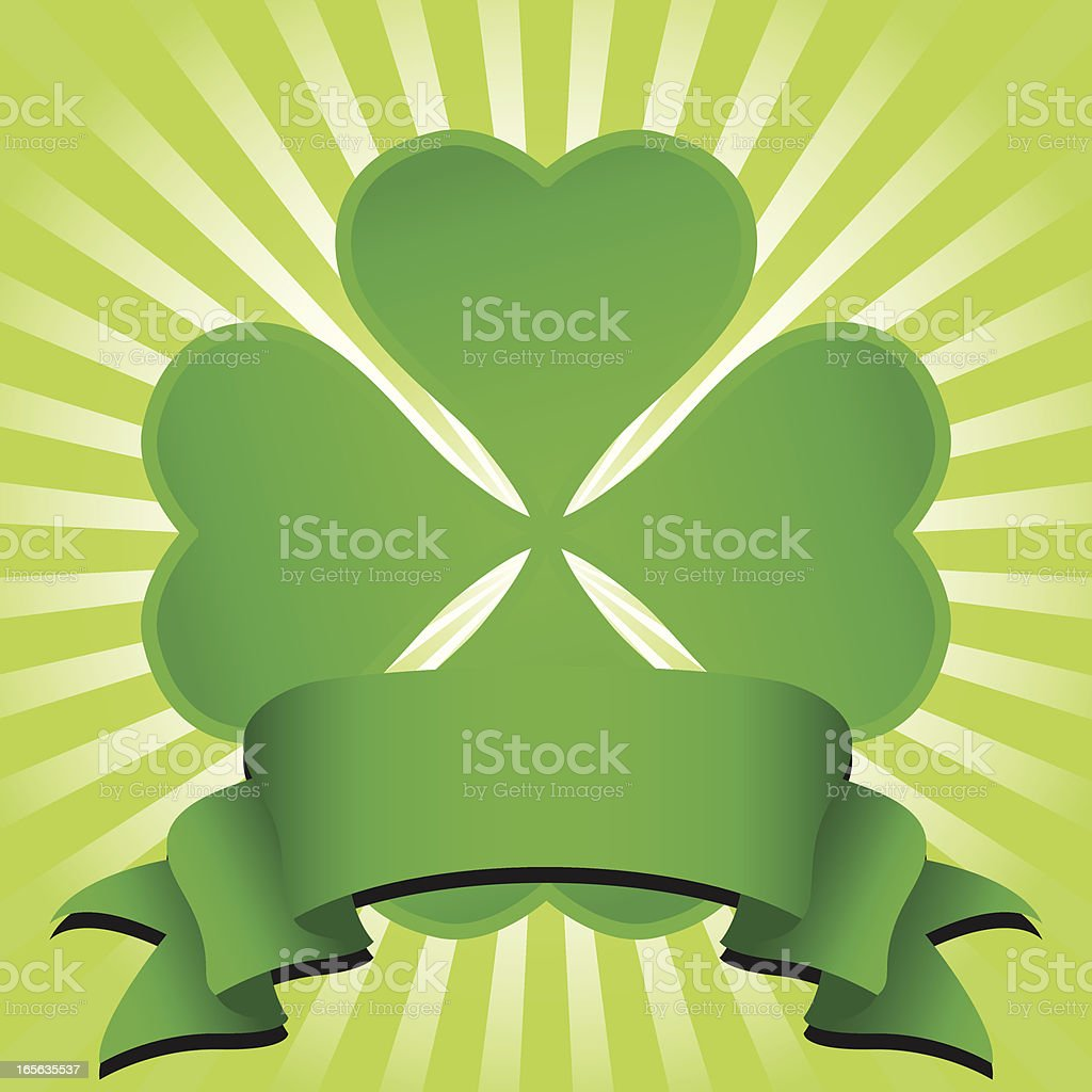 St. Patrick's Banner royalty-free stock vector art