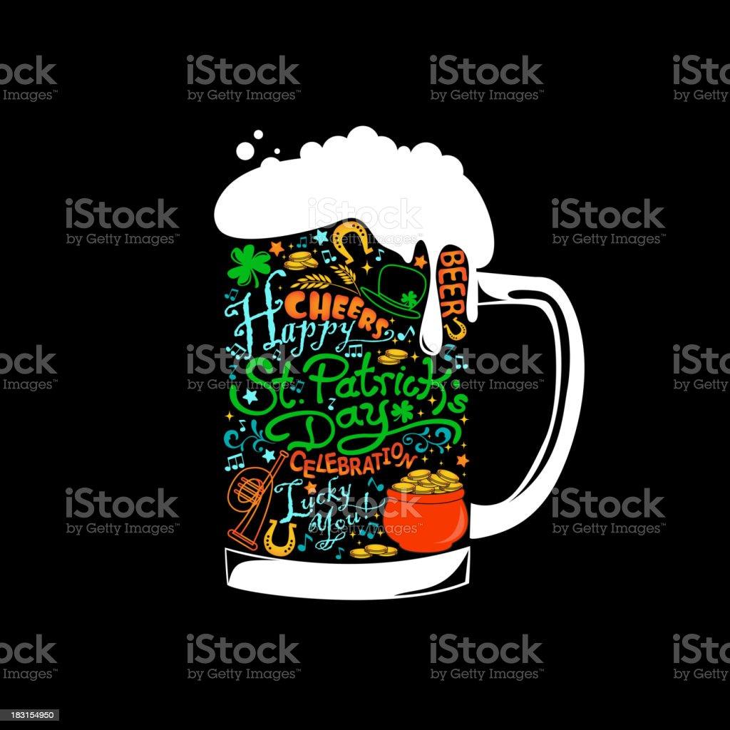 St. Patricks Beer vector art illustration