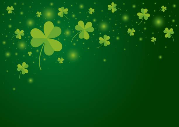 St Patricks Tag Hintergrund-Design von Shamrock verlässt Vektor-illustration – Vektorgrafik