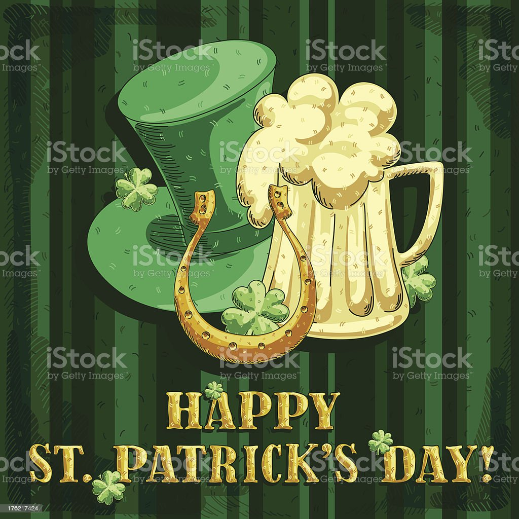 St. Patrick's Day background royalty-free st patricks day background stock vector art & more images of art