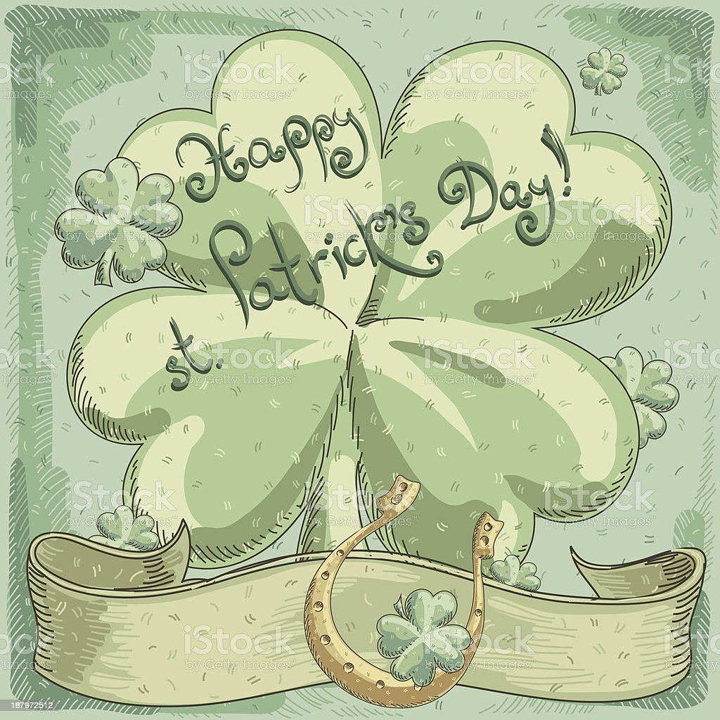 St. Patrick's Day background royalty-free stock vector art