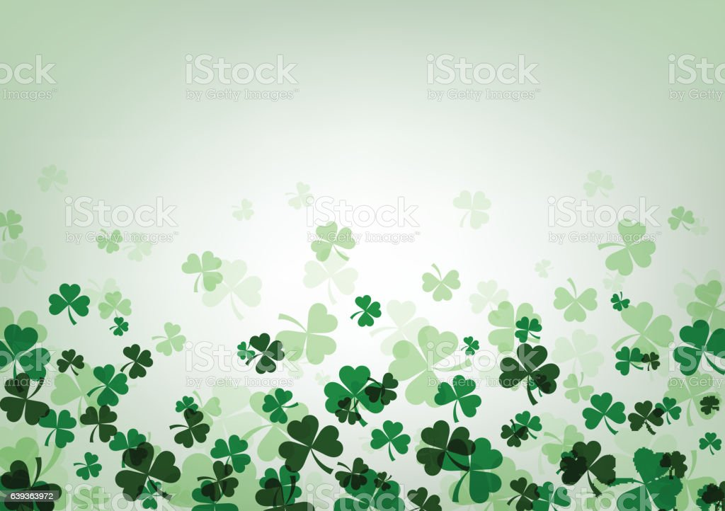 St. Patrick's day background. vector art illustration