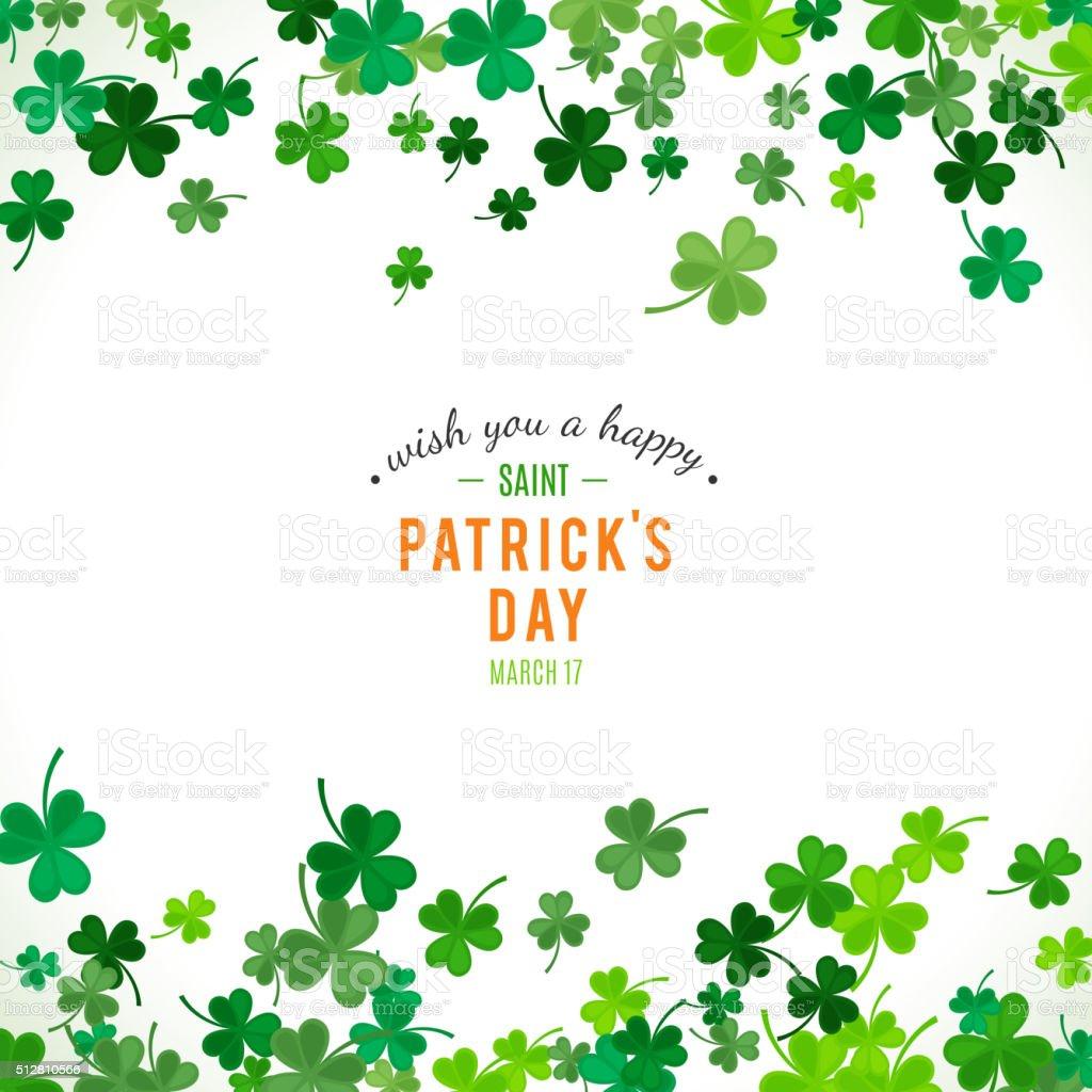 St Patrick's Day background. Vector illustration vector art illustration