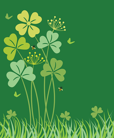 St. Patrick's day background with clover .