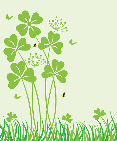 Vector St. Patrick's day background with clover .