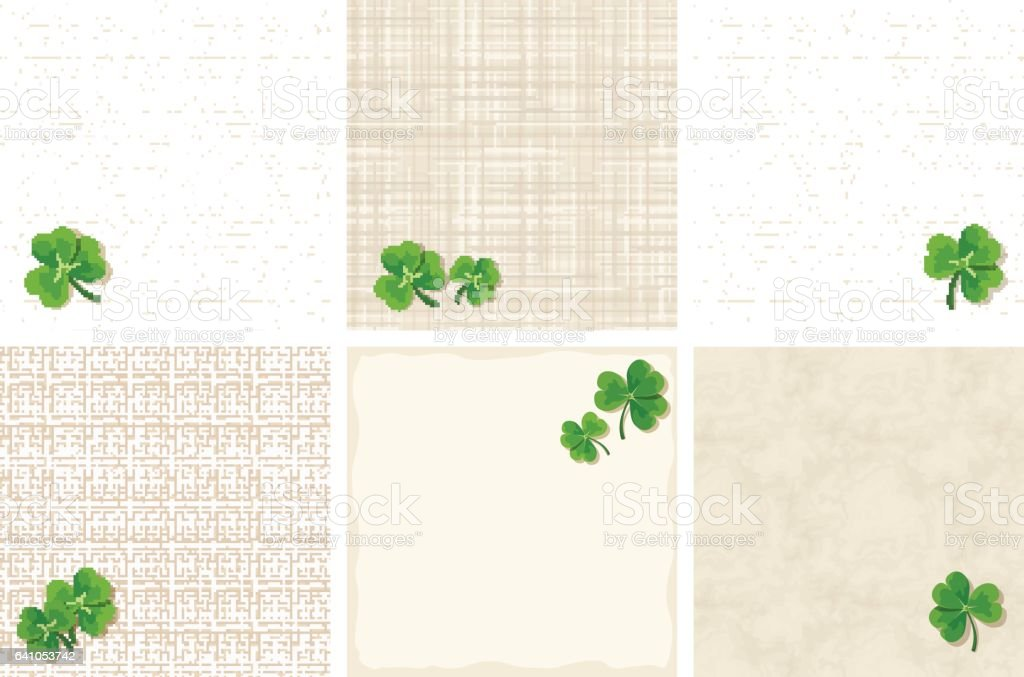 St. Patrick's day backgrounds with shamrock leaves. Vector eps-10. vector art illustration