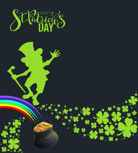 St. Patricks Day Banner-Bagen-Plakat für Party – Vektorgrafik