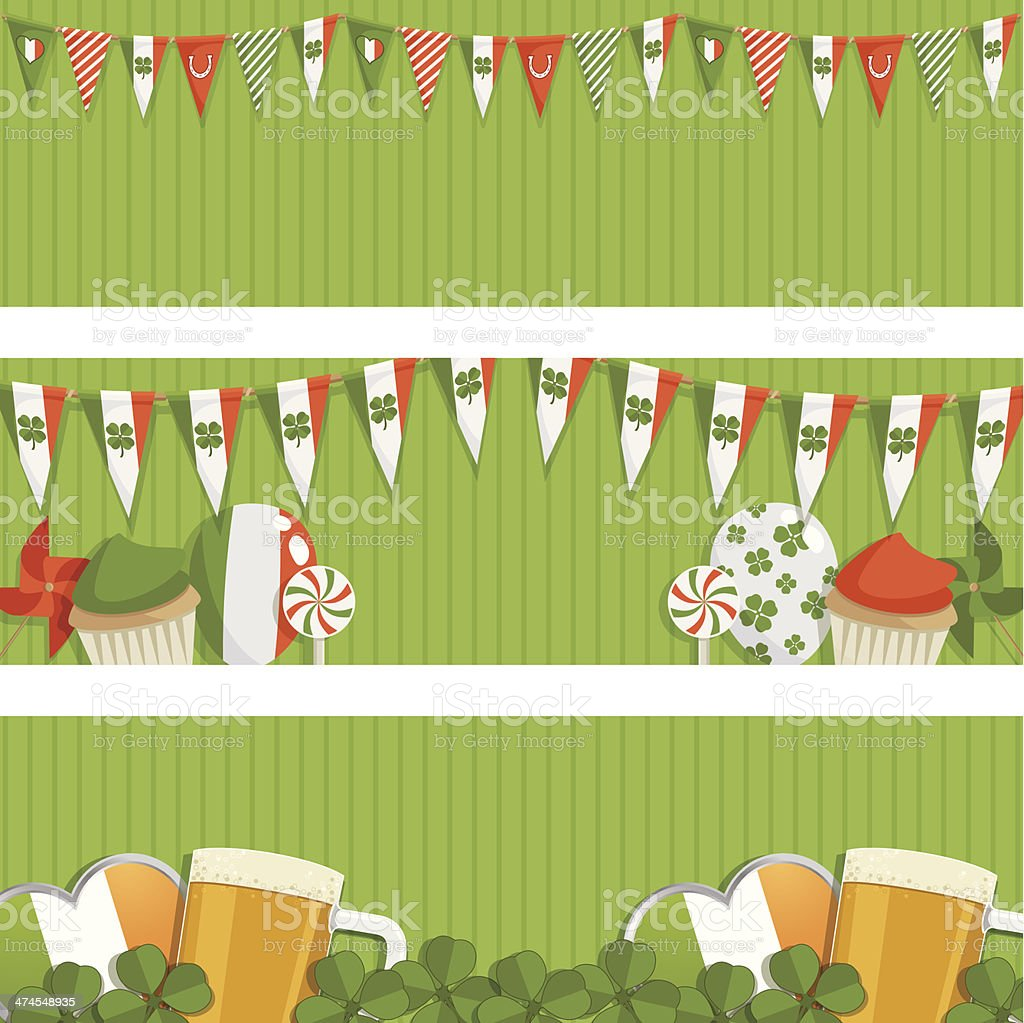 st patricks day banners royalty-free stock vector art